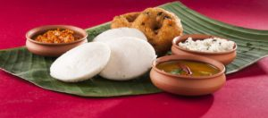 South Indian food Idli and Vada