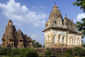 The Kandariya Mahadev Temple Complex in Khajuraho in the Madhya Pradesh region of central India - A